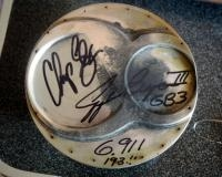 Autographed Piston Head Of The World Record Pass 6.91 Signed By Chip Ellis And George Bryce