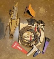 Jumper Cables, Car Jack, Wheel Chuck Ice Scrapers And More