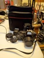 Vintage Sears KS-1 35mm Camera With Extra Lens, Flash And Carrying Case