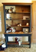 "2 Piece Arts & Crafts Solid Wood Bookcase With 4 Shelves, 76"" X 48"" X 14.5"", Contents Not Included"