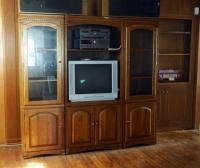 "3 Piece Entertainment Center With Side Storage Cabinets, 76"" X 81"" X 21"", Contents Not Included"