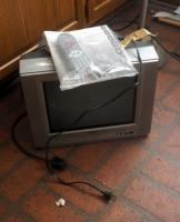 "Toshiba 14"" Color TV With Owner's Manual And Remote"