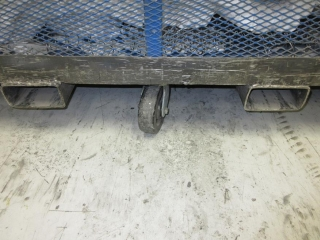 Metal Cage On Wheels With Forklift Holes UNRESERVED