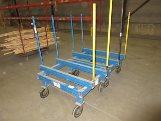 Metal Cart On Wheels (Must Take 2 Times The Bid Price) UNRESERVED