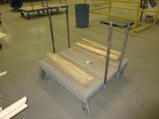 Metal Cart On Wheels  UNRESERVED