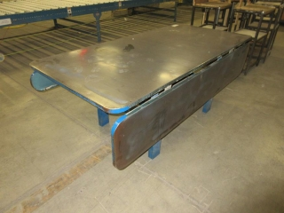 Metal Work Table With Folding Sides UNRESERVED