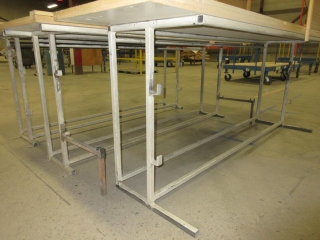 Metal Work Benches, Wood Tops (Must Take 3 Times The Bid Price) UNRESERVED