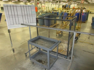 Misc. Metal Cage On Wheels, Metal Cart And White Board On Wheels UNRESERVED