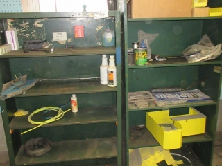 Metal Shelf With Contents  UNRESERVED