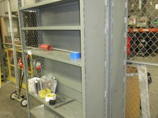 Metal Shelves And Contents (Must Take 2 Times The Bid Price) UNRESERVED