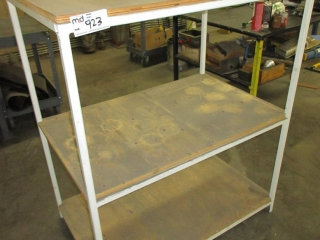 Metal Shelf With Wood Top UNRESERVED