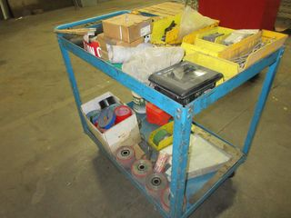 Metal Cart On Wheels With Contents UNRESERVED