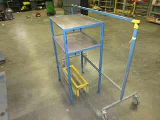 Metal Table And Rack On Wheels UNRESERVED