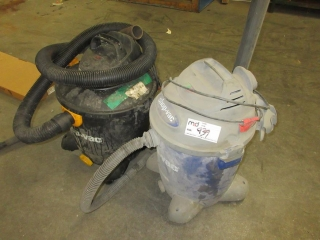 2 Shop Vacuums  UNRESERVED