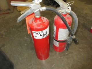 Fire Extinguishers  UNRESERVED