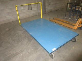 Metal Cart On Wheels With Wood Deck UNRESERVED