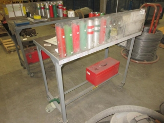 Metal Cart On Wheels Contents Included  UNRESERVED
