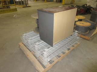Misc. Pallet Rack Grating, Cabinet And Electric Wire  UNRESERVED