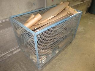 Metal Crates On Wheels  UNRESERVED