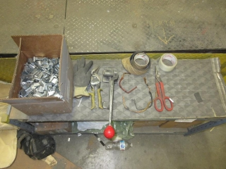 Metal Work Bench With Contents  UNRESERVED