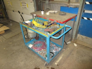Metal Cart And Bench, Contents Included UNRESERVED