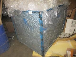 Metal Crate On Wheels  UNRESERVED