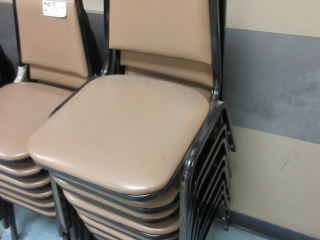 Metal Chairs With Vinyl Padding (Must Take 8 Times The Bid Price) UNRESERVED