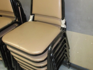 Metal Chairs With Vinyl Padding (Must Take 6 Times The Bid Price) UNRESERVED