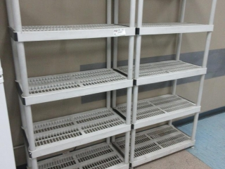 Plastic Storage Shelves (Must Take 2 Times The Bid Price) UNRESERVED