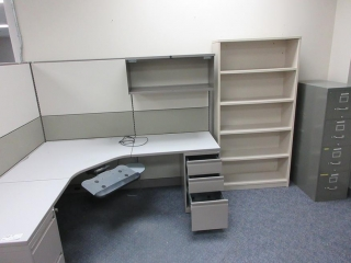 Office Cubicle, Bookshelf And Filing Cabinet UNRESERVED