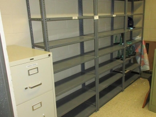 Metal Shelves And Filing Cabinet UNRESERVED