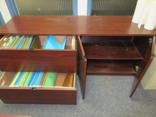 Complete Office, Desk, Chair And Cabinet UNRESERVED