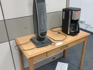Table, Heater And Coffee Maker UNRESERVED