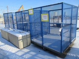Metal Cages On Wheels (Must Take 3 Times The Bid Price) UNRESERVED