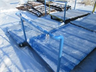 Metal Carts On Wheels With Wood Floors (Must Take 3 Times The Bid Price) UNRESERVED