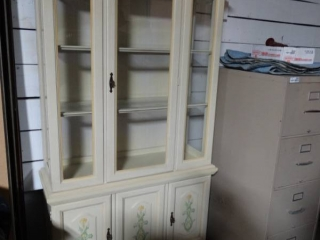 French provincial china hutch.