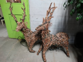 Pair of lighted Reindeer- outdoor decor