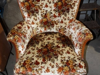 Vintage floral chair- Good shape