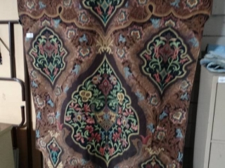 Tapestry wall hanging w/ decorative bar