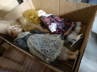 2 collector porcelain dolls