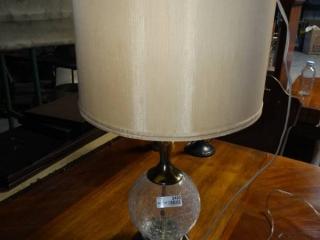 Decorative glass globe table lamp.