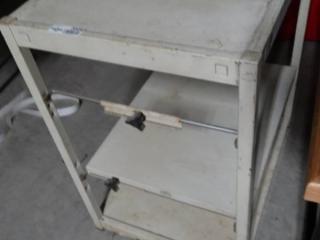 Metal 3 tier shelf.