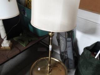 Floor lamp/table combo.