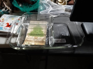 Lot of baking dishes.