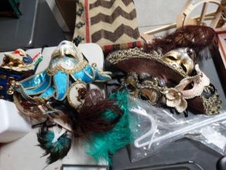 Lot of Venetian mask. Mardi Gra masks/ Party