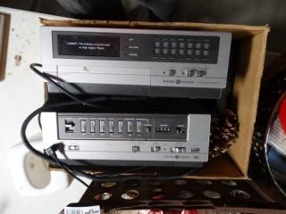 General electric C-105 machine and General electric VHS machine.