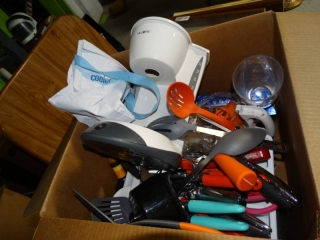 Lot of kitchenware and toaster.
