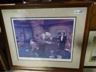 """The missing file"" framed wall art."