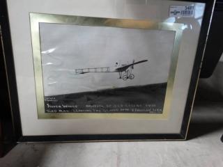 """""""Silver wings"""" framed wall art."""
