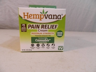 New Hempvana Pain Relief Cream